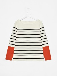 Cos Contrast Cuff Knit Top