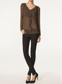Massimo Dutti Shirt With Front Flounce