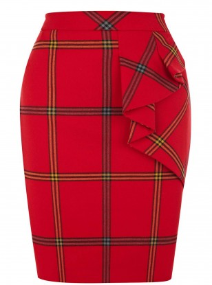 Karen Millen Graphic Check Skirt