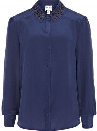 Reiss Embroidered Collar Shirt