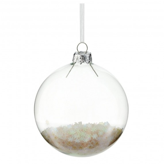 Gisela Graham Clear Nativity Scene Bauble 499