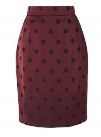 Jaeger Lurex Spot Pencil Skirt