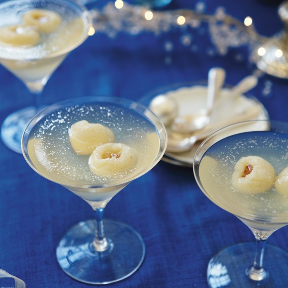 Prosecco and lychee jellies woman and home for Prosecco dessert recipes