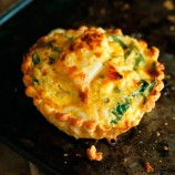 Crab and seashore vegetable tart