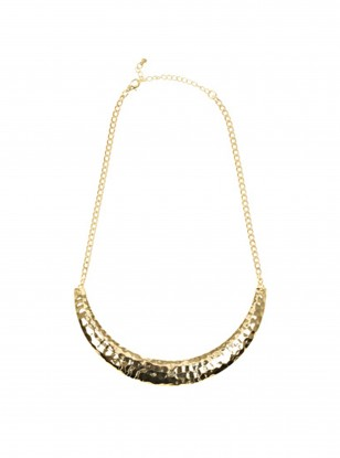 Warehouse Battered Torque Short Necklace
