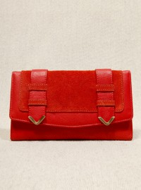 Urban Outfitters Red Leather Flapover Purse