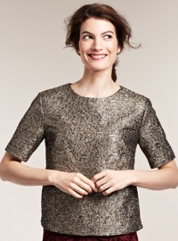 By Malene Birger at Fenwick Gold Metallic Top