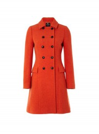 Hobbs London Maisie Coat in Rust Red Wool
