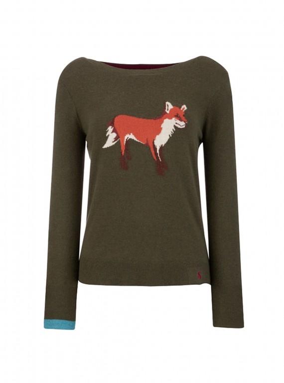 Joules Marsha fox print jumper, £69.95