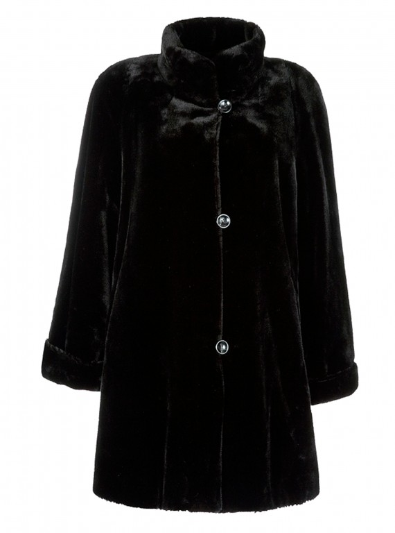 Basler faux fur swing coat photo