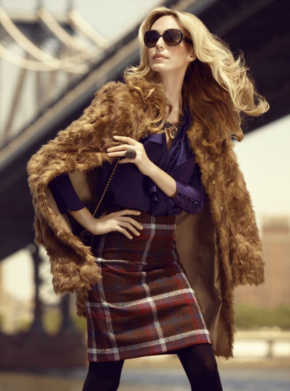 Model in fur coat photo