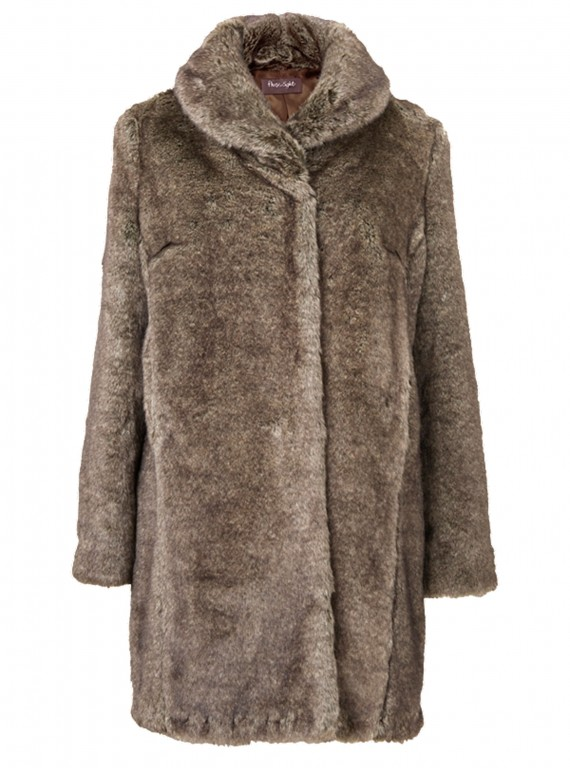 Phase Eight grey faux fur coat photo