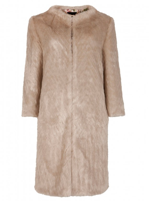 Ted Baker Risel faux fur coat photo