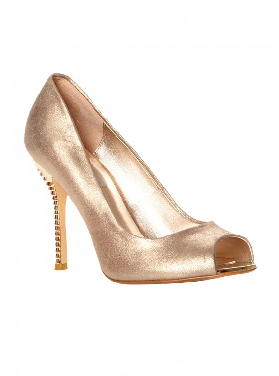 Photo of the Dune Draycott metallic trim high stiletto court shoes