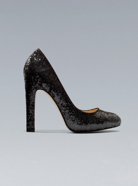 Photo of the Zara glitter high heel court shoe