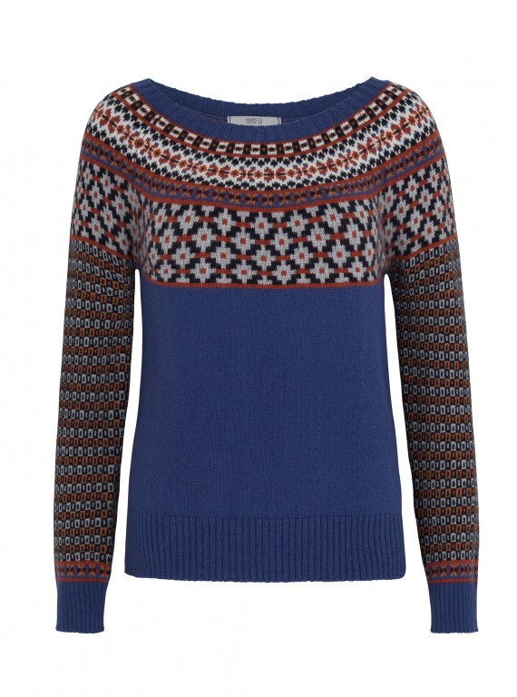 M&S Blue Fair Isle Knit photo
