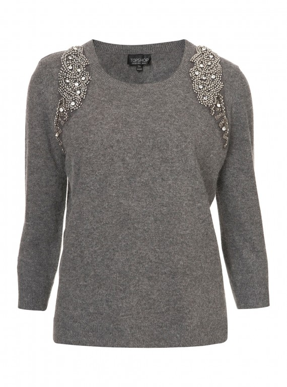 Topshop Mirror Embellished Jumper photo