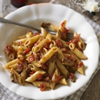 Penne with Tomato and Porcini Mushroom Sauce