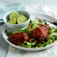 Sticky Ginger Chicken with Asian Salad