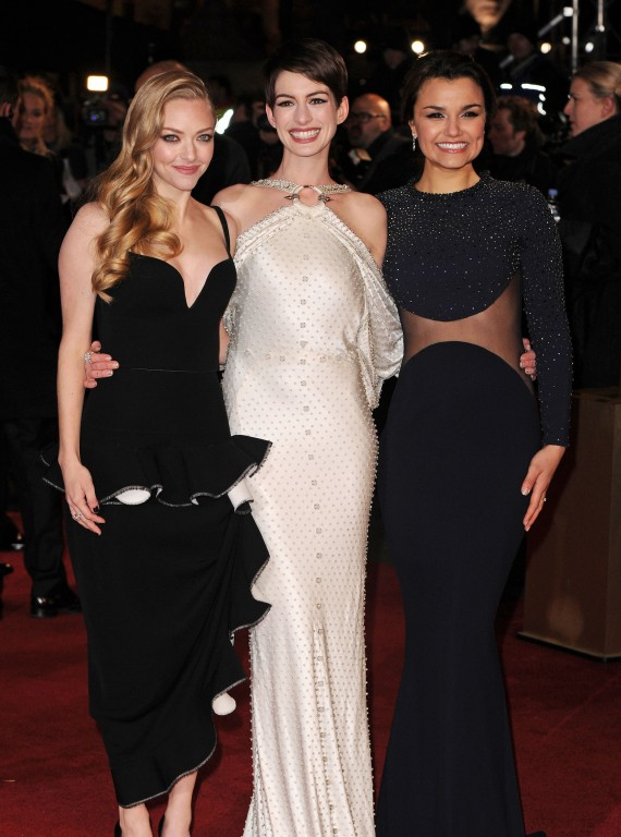 Anne Hathaway, Amanda Seyfried and Samantha Barks Les Miserables film premiere photo