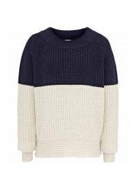 Reiss Rimka Two Tone Ribbed Jumper
