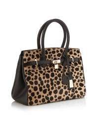 Jasper Conran Black Cheetah Printed Front Tote Bag at Debenhams