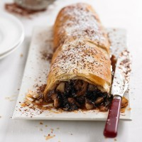 Chocolate and pear strudel recipe