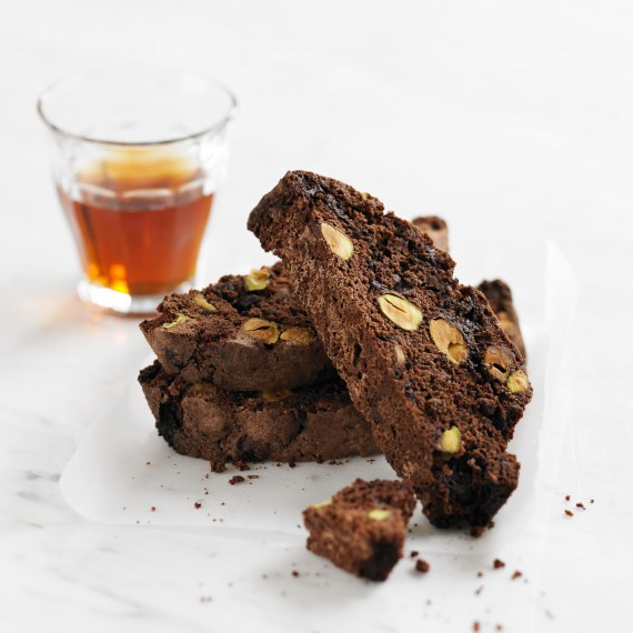 Chocolate and Pistachio Biscotti - Woman And Home