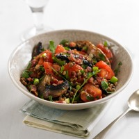 Lentil, Mushroom, Tomato and Rocket Salad