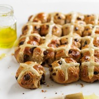 Mini Chocolate And Orange Hot Cross Buns