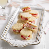 Raspberry and Elderflower Shortbread