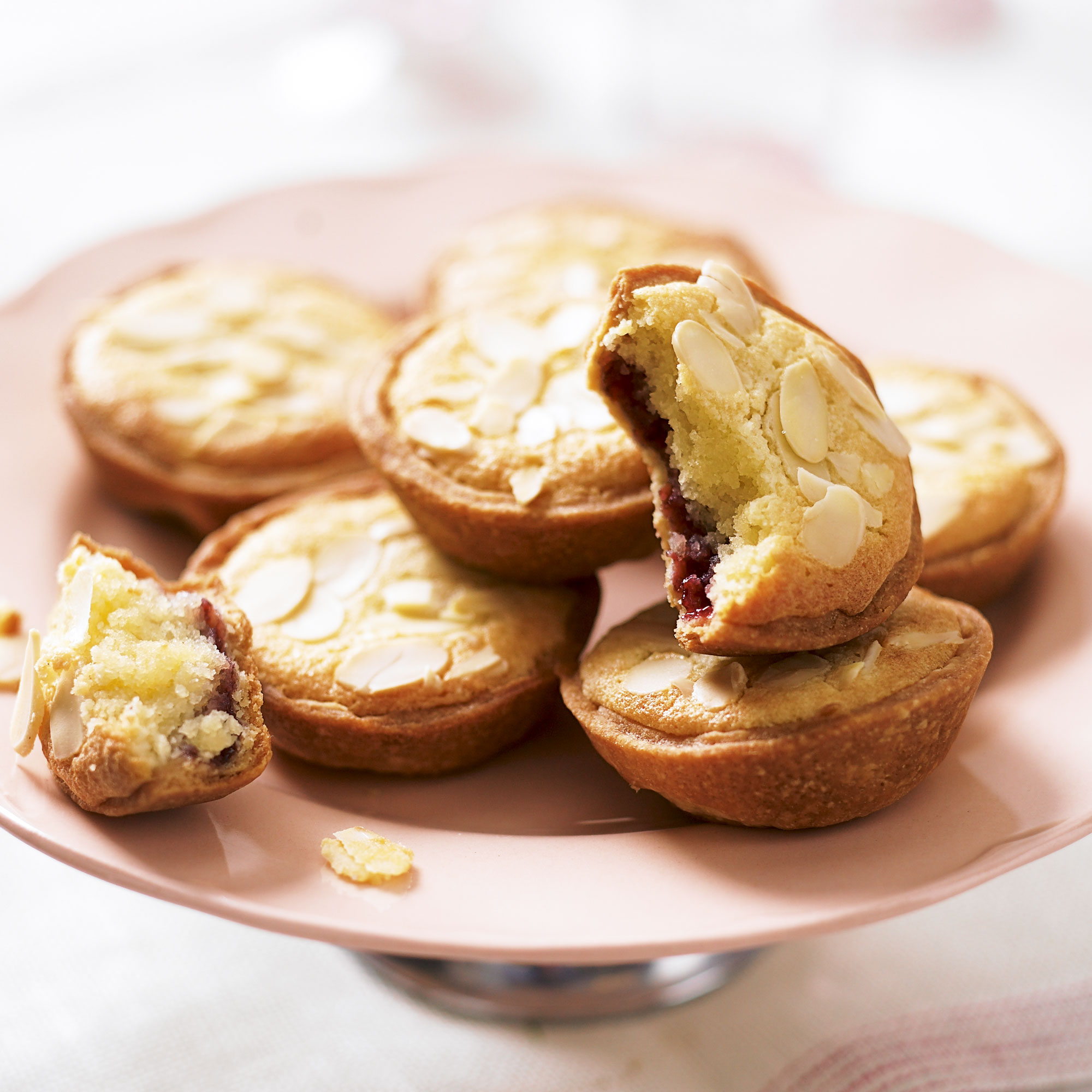 Mini bakewells recipe woman and home for Savoury canape fillings