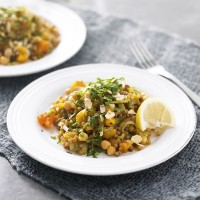 Fruity chickpea pilaf