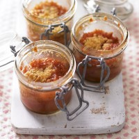 Solo rhubarb and orange crumbles