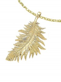 Dower and Hall 18ct Gold Vermeil Feather Pendant