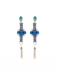 Anton Heunis Swarovski Crystal Tassel Earrings