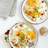 Orange, Fennel & Hazelnut Salad with a Ginger & Chilli Dressing Recipe