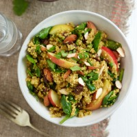 Curried Quinoa with Apple and Spinach