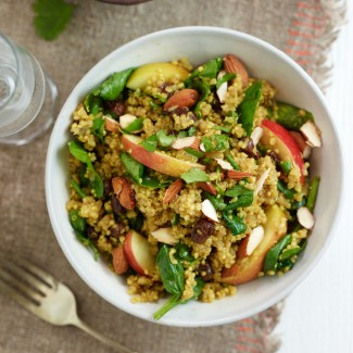 Curried Quinoa with Apple and Spinach Recipe