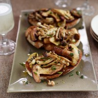 Wild Mushroom Bruschetta Recipe