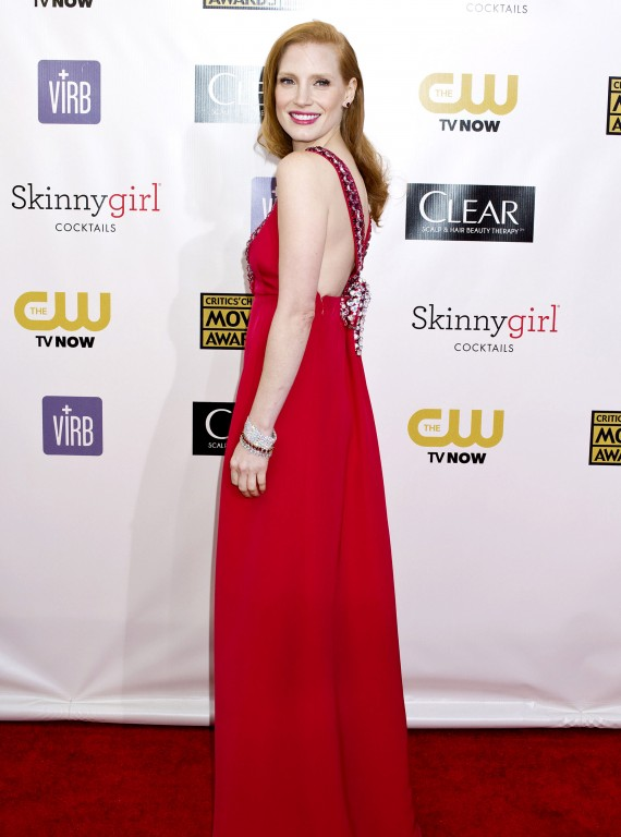 Jessica Chastain Critics Choice Movie Awards 2013 photo