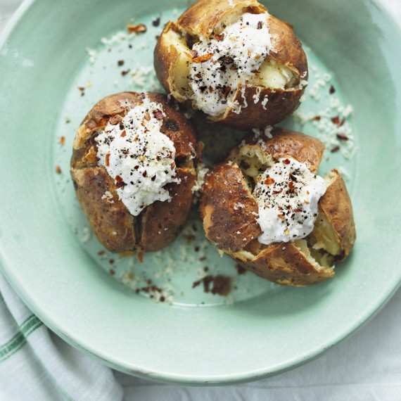 The not so loaded baked potato-recipes-woman and home
