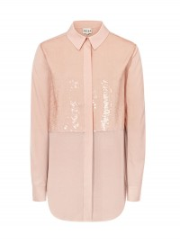 Reiss Daphne Contrast Fabric Shirt