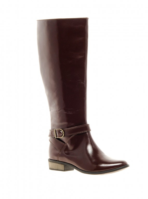 Photo of ASOS Cadalac Leather Knee High Boots