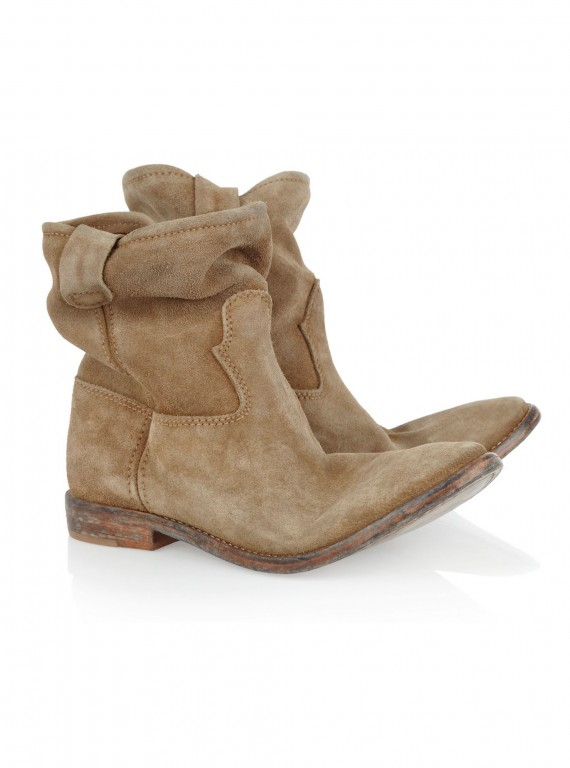 Photo of Isabel Marant Jenny Brushed-Suede Ankle Boots
