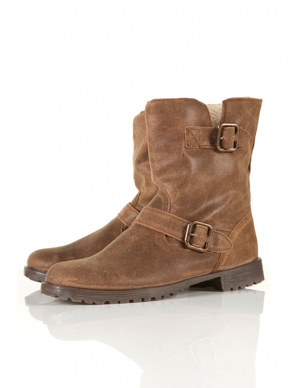 Photo of Topshop Marlo Furlined Biker Boots