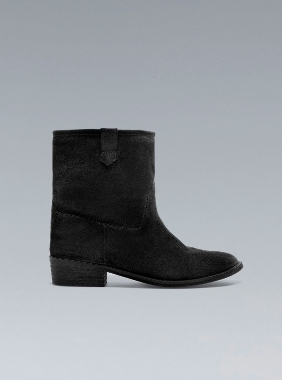 Photo of Zara Flat Cowboy Ankle Boots