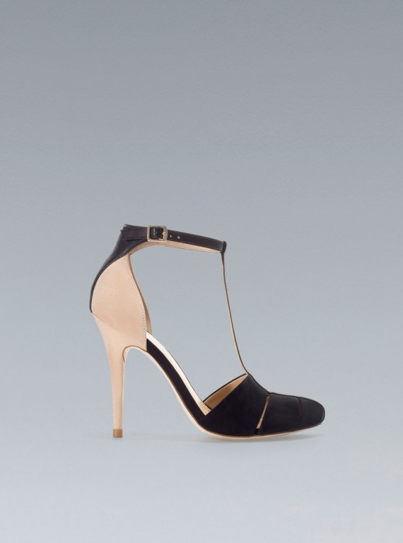 Zara T-bar High Heels photo