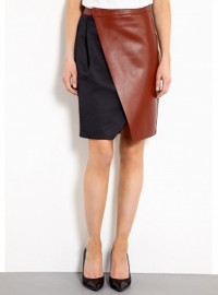 Sportmax Tappeto Leather Wrap Skirt