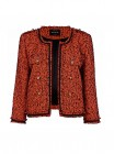 River Island Orange Studded Boucle Jacket